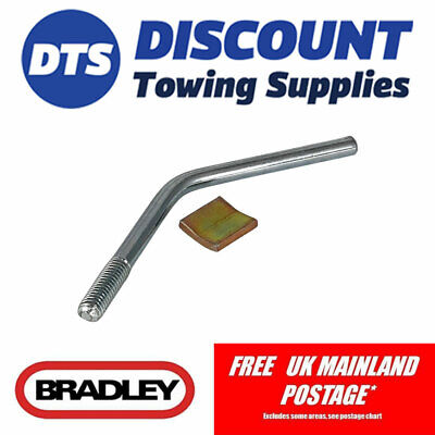 Bradley Trailer Replacement Jockey Wheel Pad & Handle for HU3 Couplings KIT3350