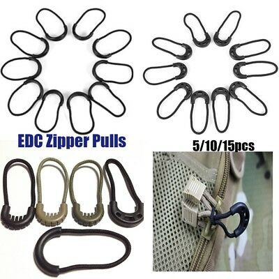 Clothing Zipper Pull Zip Puller Replacement Cord Rope Pullers Ends Lock Zips