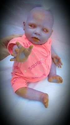 OOAK Reborn Baby Girl, Alien. Honey Kit. Bountiful Baby. Hand Painted. Realistic