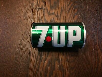Vintage 7 Up steel pull-tab can - Double Imprint!!