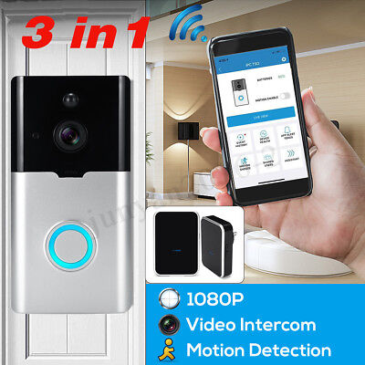 1080P HD Wireless Video Intercom Doorbell WiFi Remote Security Two-Way Talk Bell