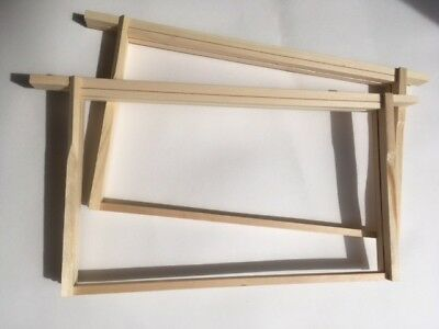 10 x Brood Hoffman Frames for National & WBC Beehives