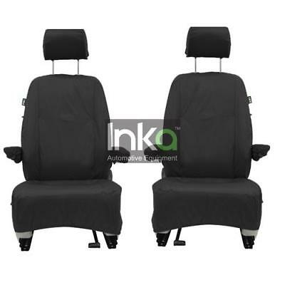 VW Transporter T5 T5.1 GP Front Inka Fully Tailored Waterproof Seat Covers Black