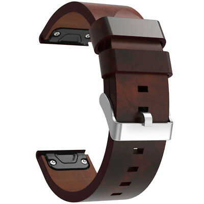 Genuine Leather Watch Band Strap Set For Garmin Fenix 5/Forerunner 935 New US