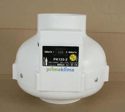 PRIMA KLIMA PK-125 MES-2 Radial ventilator - Extracteur d'air - 125mm 220/400m3