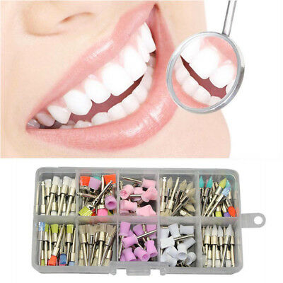 100PCS Mixed For Dental New Polishing Polisher Prophy Cup Brush Latch Flat Type