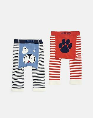 Joules Baby 203979 Two Pack Leggings in DOG AND PAW
