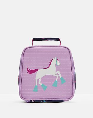 Joules Girls 203938 Lunch Bag ONE in NEON MAUVE HORSE in One Size