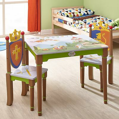 Set di sedie in legno bambini Fantasy Fields Knights and Dragons TD-11832A2