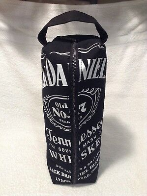 Jack Daniels Whiskey Canvas Zippered Bag 1.75 ML Bottle Tote Travel Toiletry