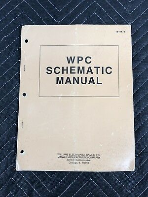 Bally Williams WPC Pinball Machine Manual Schematics 16-9473 FREE SHIP