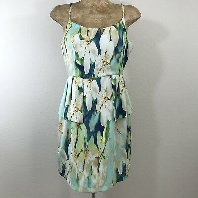 b1e3699f6fa BB Dakota Dress SZ 10 Peplum Sundress Floral Graphic Print Flaw See  Description
