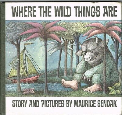 Kinderbuch 1963 Sprache ENGLISCH Where the wild things are Maurice Sendrak USA