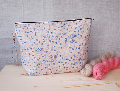 Clearance extra large knitting project bag, craft bag, gifts for knitter