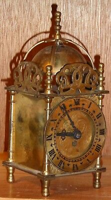 Lovely little Smiths 8-day brass lantern clock untested (I don't have key)