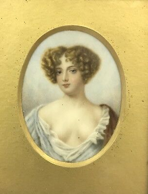 Excellent quality Antique 19th/20th Century miniature painting portrait