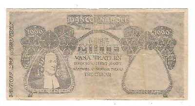 Italy - Bank of Napoli - 1893, Mille (1000) Lire  !!Fantasy Note!!