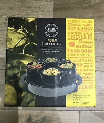 Global Gourmet Curry Station - Electric Indian Food Warmer, Heater & Buffet Serv