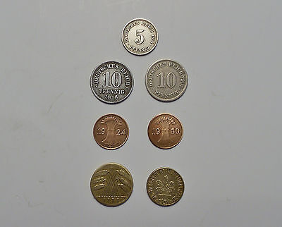 German Coin Lot of 7