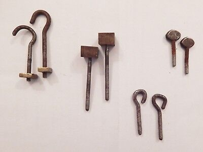 4 Pairs 18/19Th C  Bolts For Longcase/grandfather Clocks