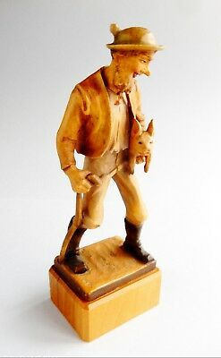 "ANRI  7""  Vintage Carved WOOD Male figure "" A GOOD PRICE ""   ( 1 of 3 )"