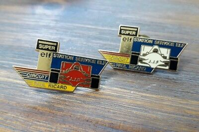 Lot De 2 Pins Station Service Elf Circuit Paul Ricard Formule 1