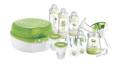 MAM Breastfeeding and Steriliser Starter Set Baby Mum Feed 0+mths