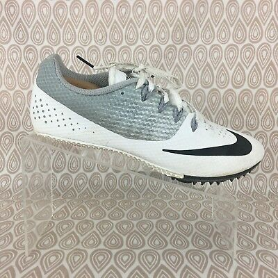 separation shoes 655c6 f9f80 Nike Zoom Rival Mens Black White Track Spikes Running Shoes Sprint Size 8.5  S168
