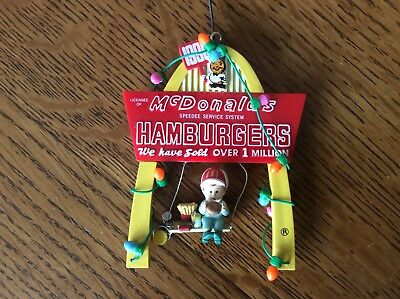 mcdonalds christmas ornament OVER ONE MILLION HOLIDAY WISHES Limited Edition