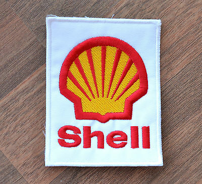 SHELL Patch Motor Oil Racing Formula 1 Sponsor Sew On Cloth NEW Embroidered NOS