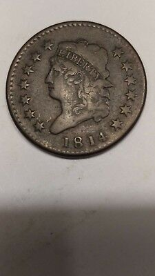 1814 Classic Head Large Cent Last Year Of Series Penny Fantastic