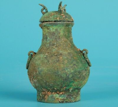 Unique Chinese Bronze Jar Wine Bottle Old Home Collection Gifts