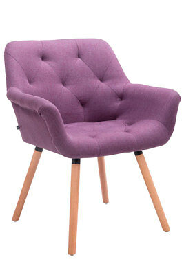 Chair Waiting CASSIDY with Lining Fabric - chair Living room with 4 Wooden legs