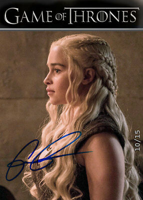 Emilia Clarke Targaryen FINAL Season 8 Auto1. Var *BlueINK GOT Trading Cards