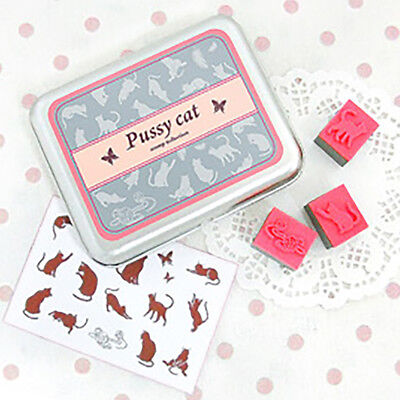 12x Universal Decoration Lovely Rubber Stamps DIY Children Gifts Fairy Small Cat