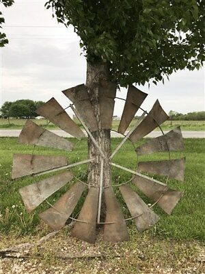 6.5' Antique Vintage Windmill Blades, Rustic Windmill Head, Ornamental Yard Art