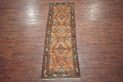 Antique 3X10 Herati Malayer Runner 1930's Hand-Knotted Wool Area Rug (3.3 x 9.9)