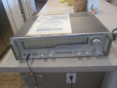 tested see description  ROTEL  RX 603 amplifier receiver pre amp with manual
