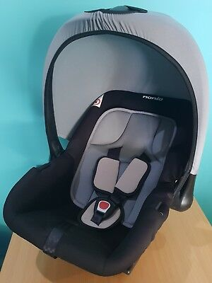 Nania Baby Ride Infant Carrier Baby Group 0+ Car Seat Carseat 0-9m Eco Smoke