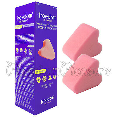10 x Joydivision Freedom Soft Tampons Mini size Pink sponge for Sex Swim Spa Box