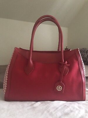 ❤️Tory Burch Red Savannah Tote🎈