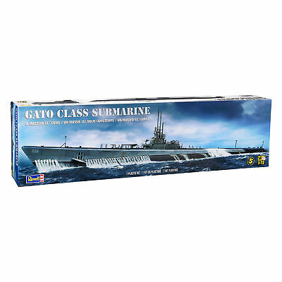 Revell Gato Class Submarine U-Boot 132cm Maßstab 1:72 Level 273 Teile U-Boot