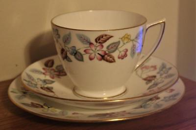 Beautiful Minton Trio Cup, Saucer & Side Plate In The S700 Cherrydown Pattern