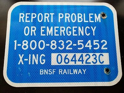 Authentic BNSF Rail Crossing Sign