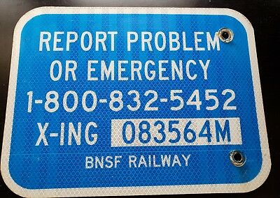 BNSF Railroad Sign AUTHENTIC