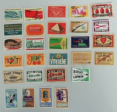 Over 300 pcs - Czechoslovakian Matchbox Labels