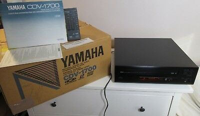 Yamaha Cdv-1700 Laser Disc With Original Box Manual Warranty Card & Remote A+
