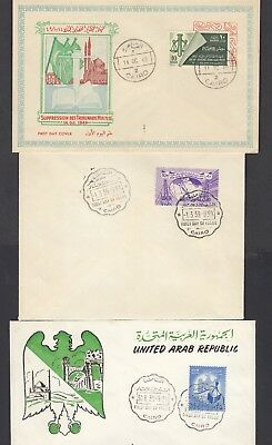Egypt /UAR  First day covers, 1949 and 1959