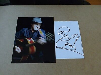 Paul Carrack 'Singer-Songwriter' signed - COA