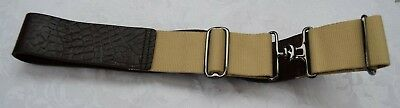 "New Mans Leather & Canvas Utility Belt Size Small Up To 32"" Waist    A27"